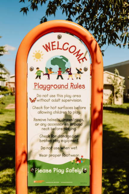 Cimarron Heights Playground Sign