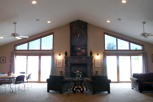 Hidden River South Clubhouse Fireplace