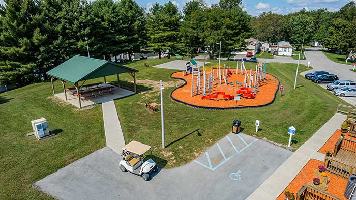 Independence Hill Playground Arial
