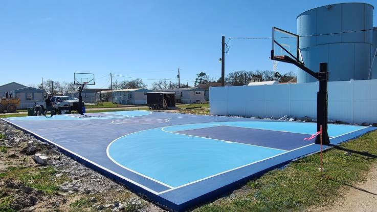 Completed Basketball Courts